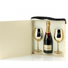 Moët & Chandon Brut 75cl «Golden Glasses»
